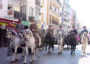 Romeria fiesta in Fuengirola shopping center